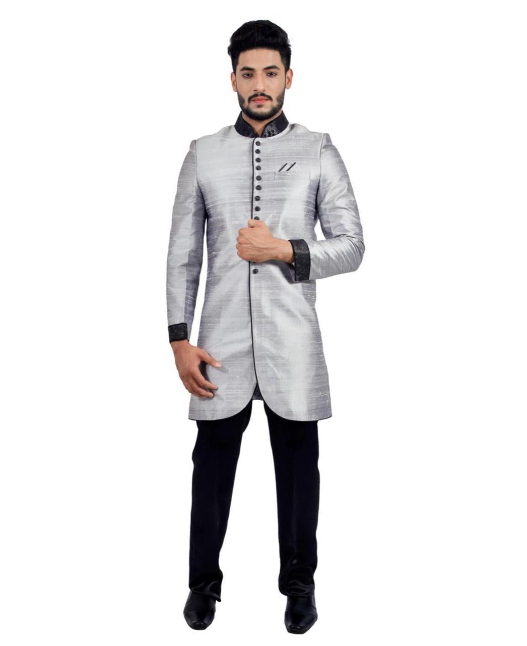 Plain Silk Gray Coats
