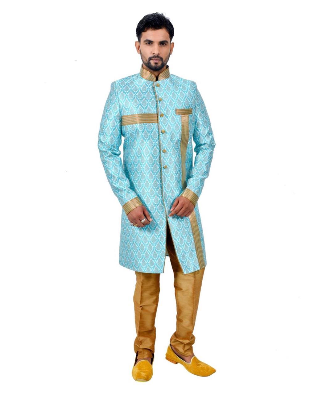 Printed Silk Blue Coats