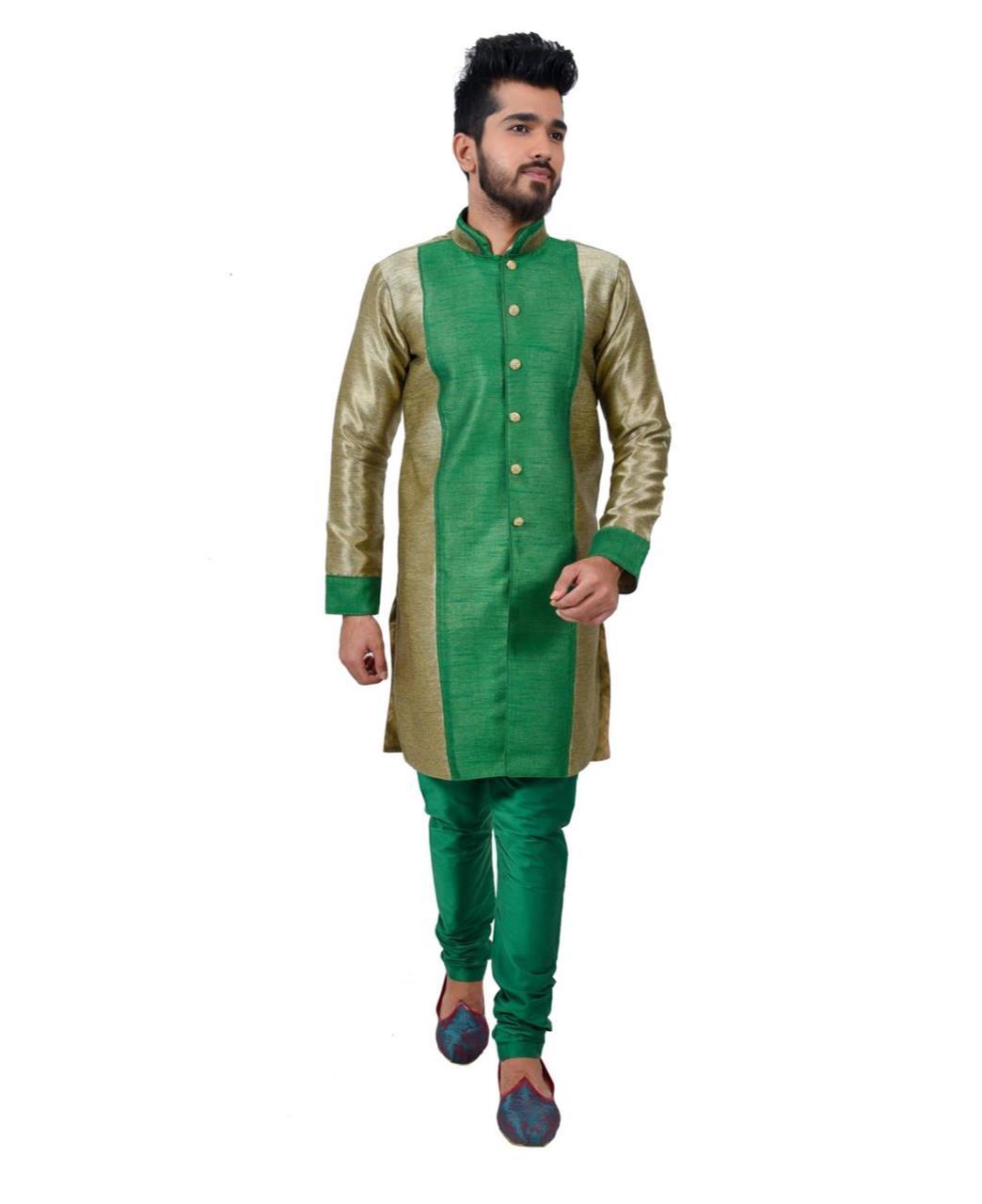 Printed Silk Green Coats
