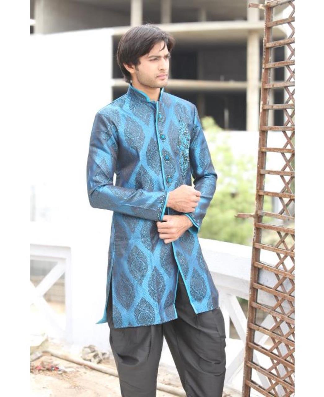 Printed Cotton Blue Coats