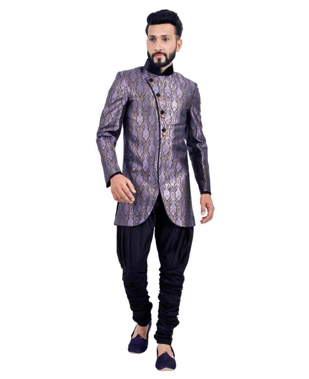 Printed Cotton Purple Coats