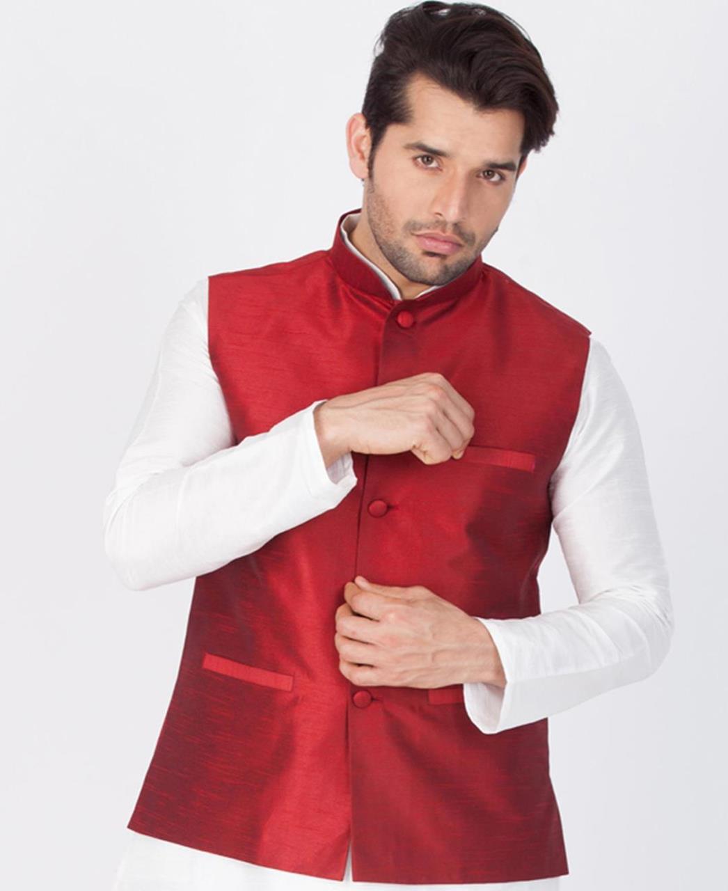 Plain Cotton Satin White Coats