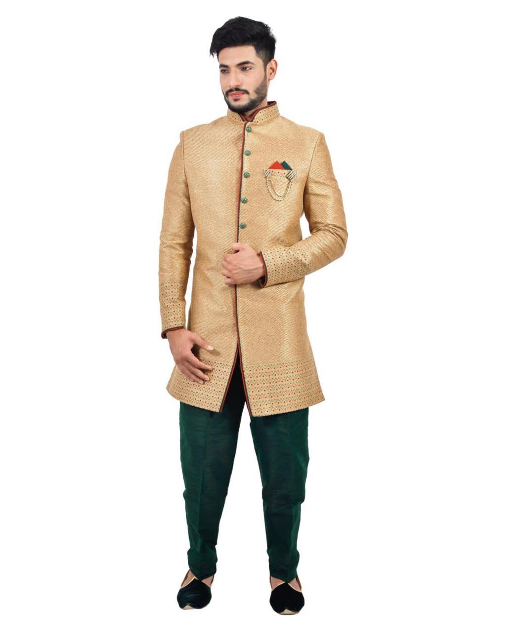 Printed Silk Beige Coats