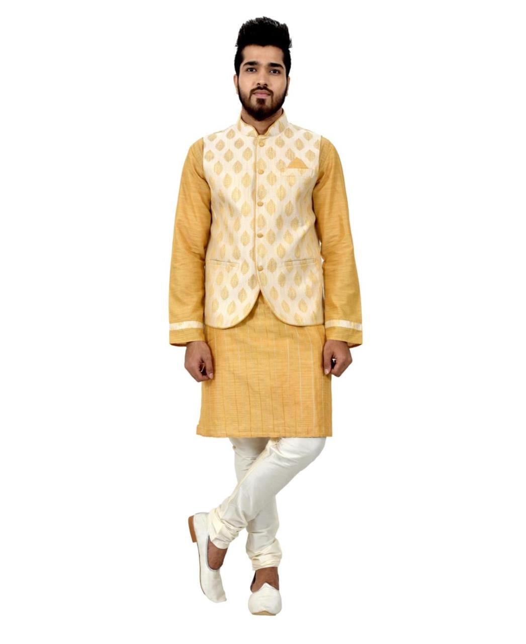 Printed Cotton Gold Waist Coats