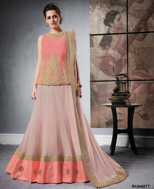 Plain Lycra Pink Circular Lehenga Choli Ghagra