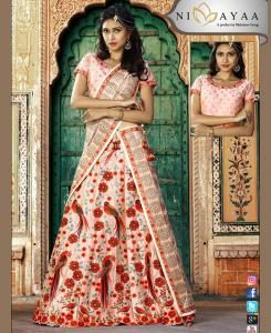 Printed Velvet Pink A Line Lehenga Choli Ghagra