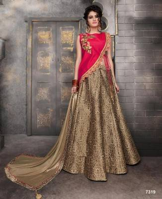 Buy Long choli lehenga Online in USA.
