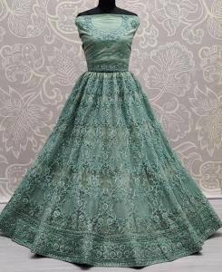 Zari Silk Lehenga in Turquoise