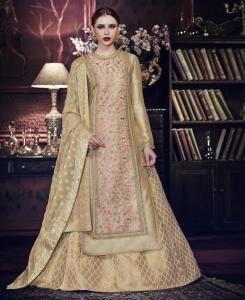 Stones Silk Gold Palazzo Suit Salwar