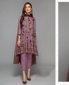 Georgette Straight cut Salwar Kameez in Purple