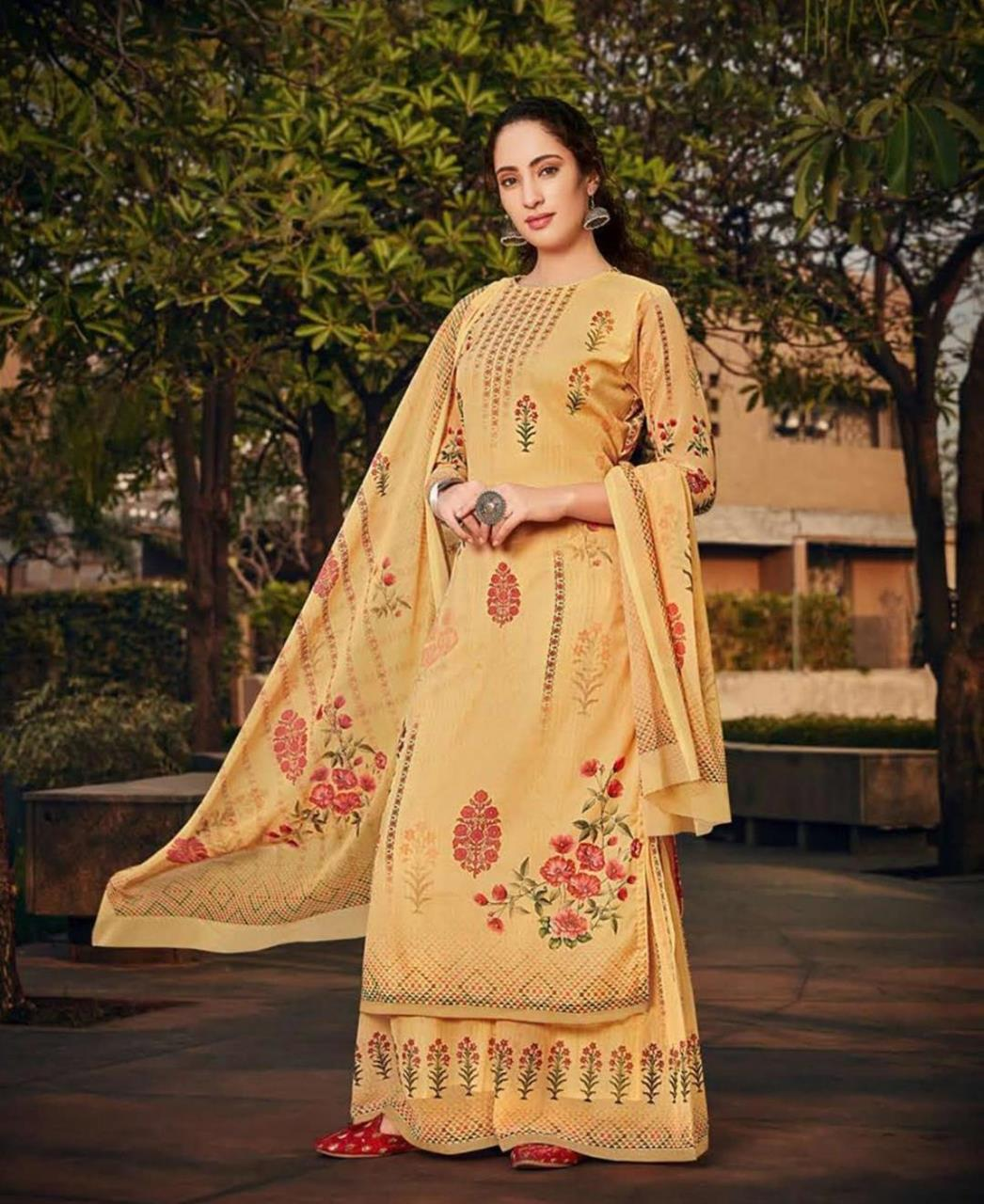 Stone Work Georgette Straight cut Salwar Kameez in Yellow