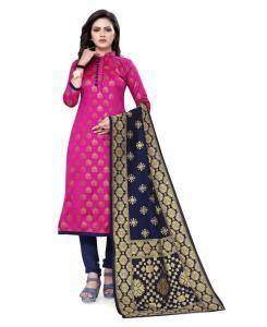 Silk Straight cut Salwar Kameez in Pink