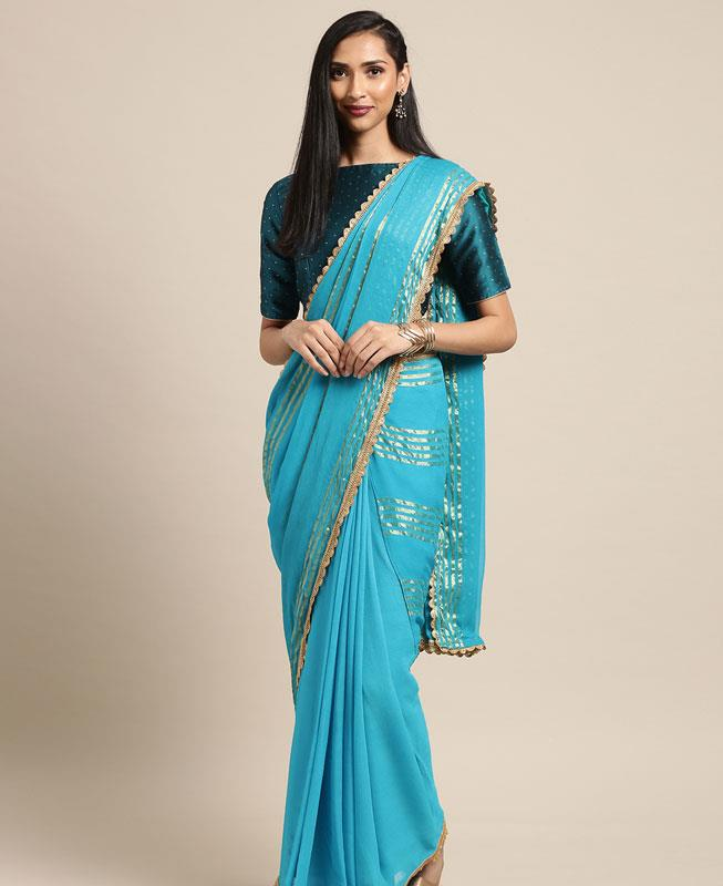 Georgette Saree in Blue