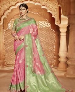 Silk Saree in Light Pink