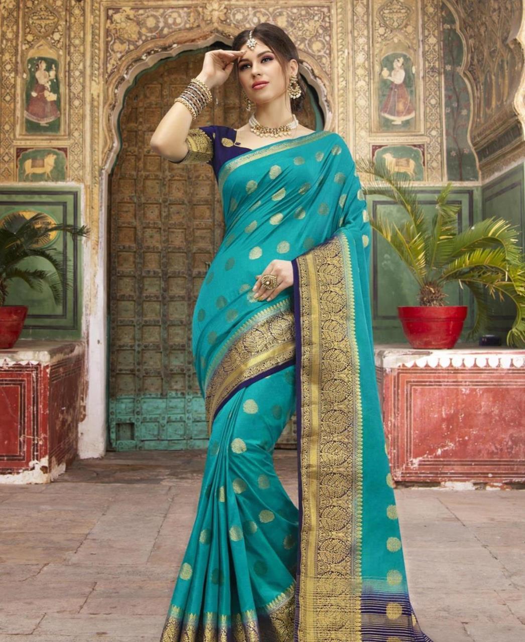 Silk Saree in Blue