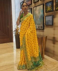 Silk Saree in Yellow
