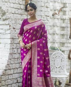 Zari Silk Saree in Purple