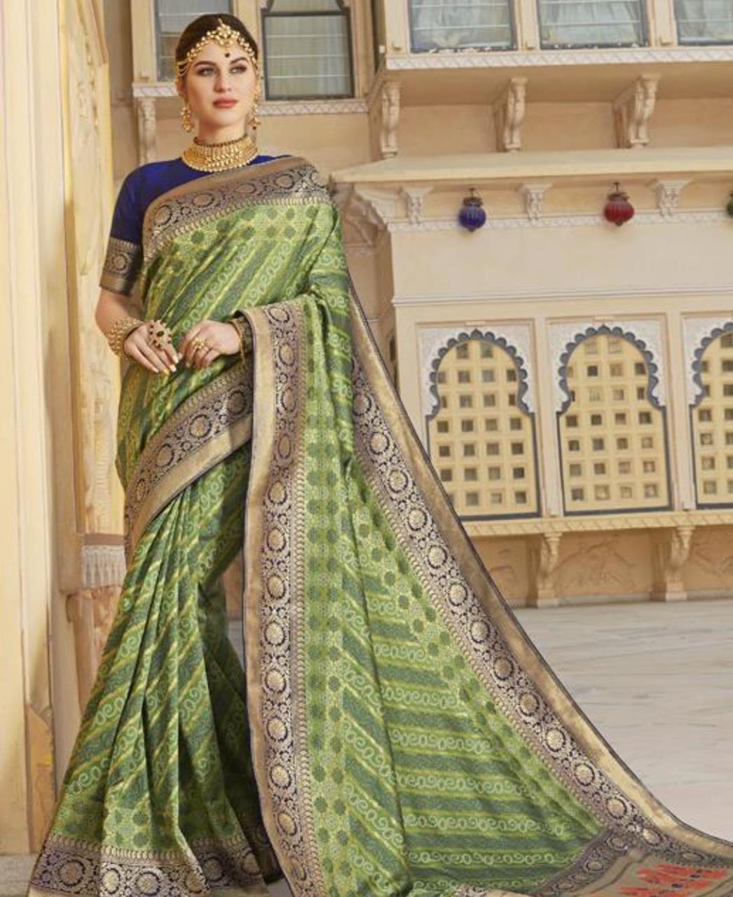 Silk Saree in Parrot