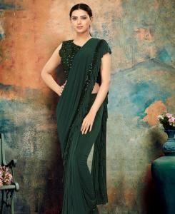 Chiffon Saree in Green