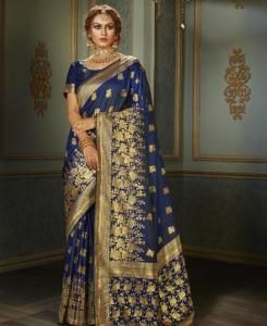 Silk Saree in Blue