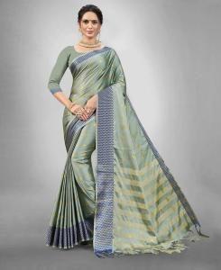 Silk Saree in Teal Green