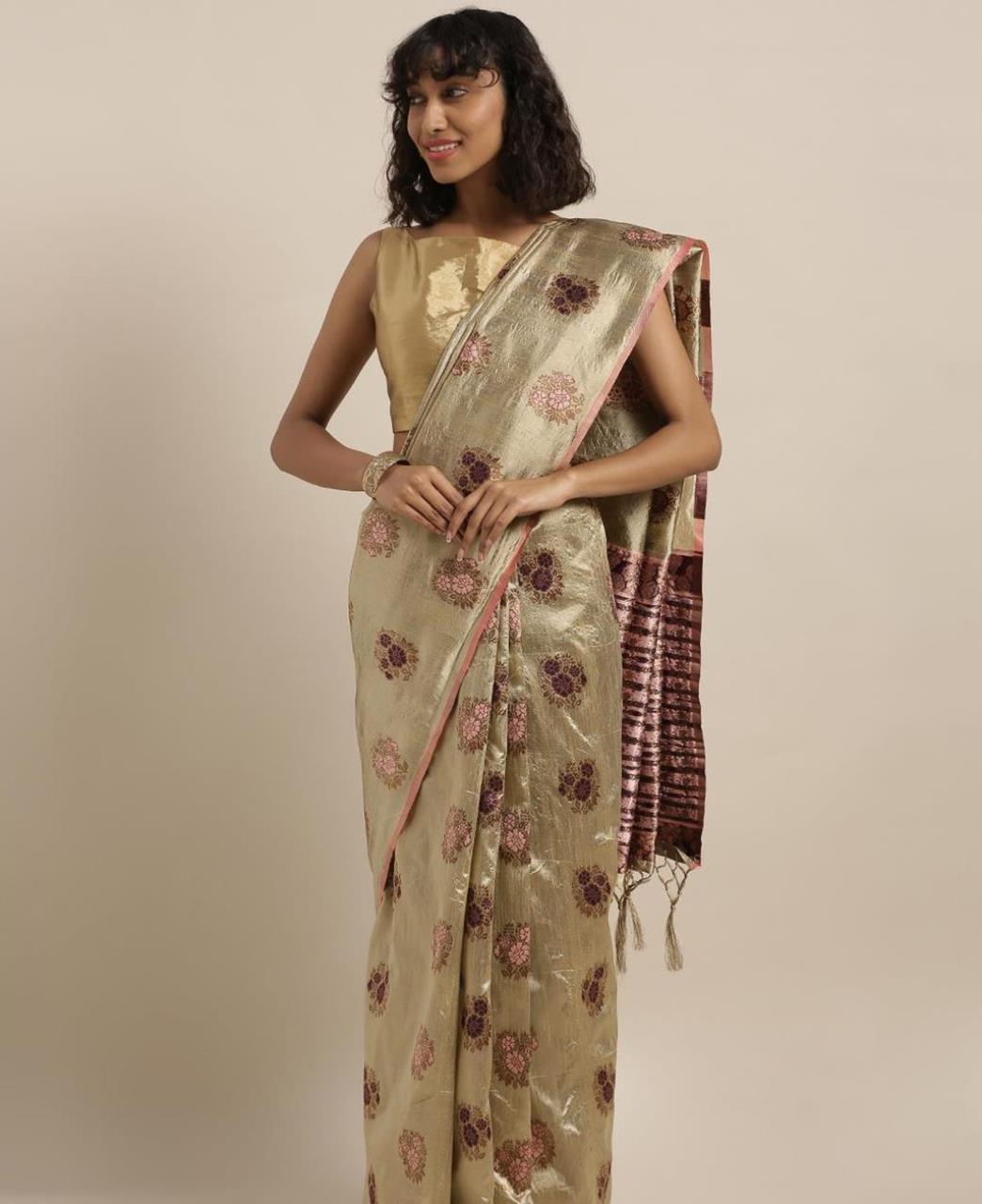 Silk Saree in Gold