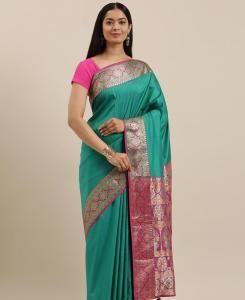 Silk Saree in Rama