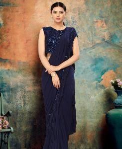 Chiffon Saree in Blue
