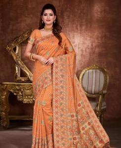 Zari Silk Saree in Orange