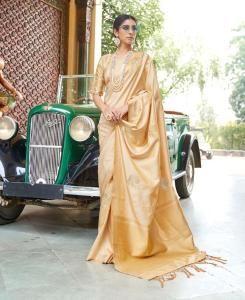 Silk Saree in Beige