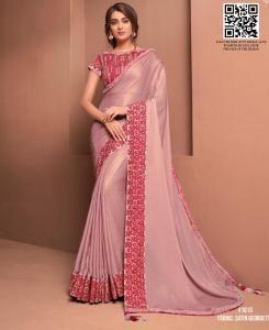 Resham Georgette Saree in Light Pink