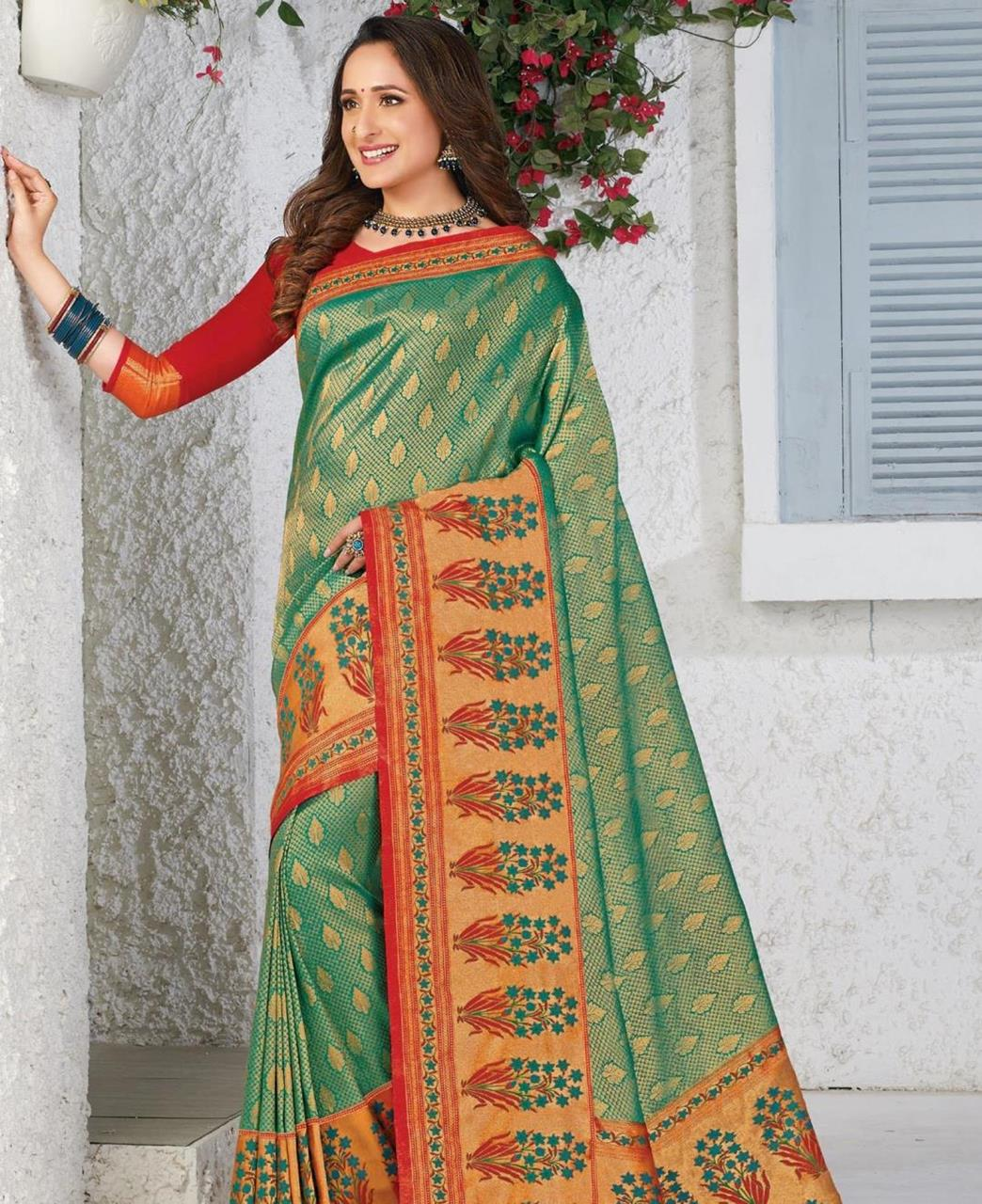 Silk Saree in Green