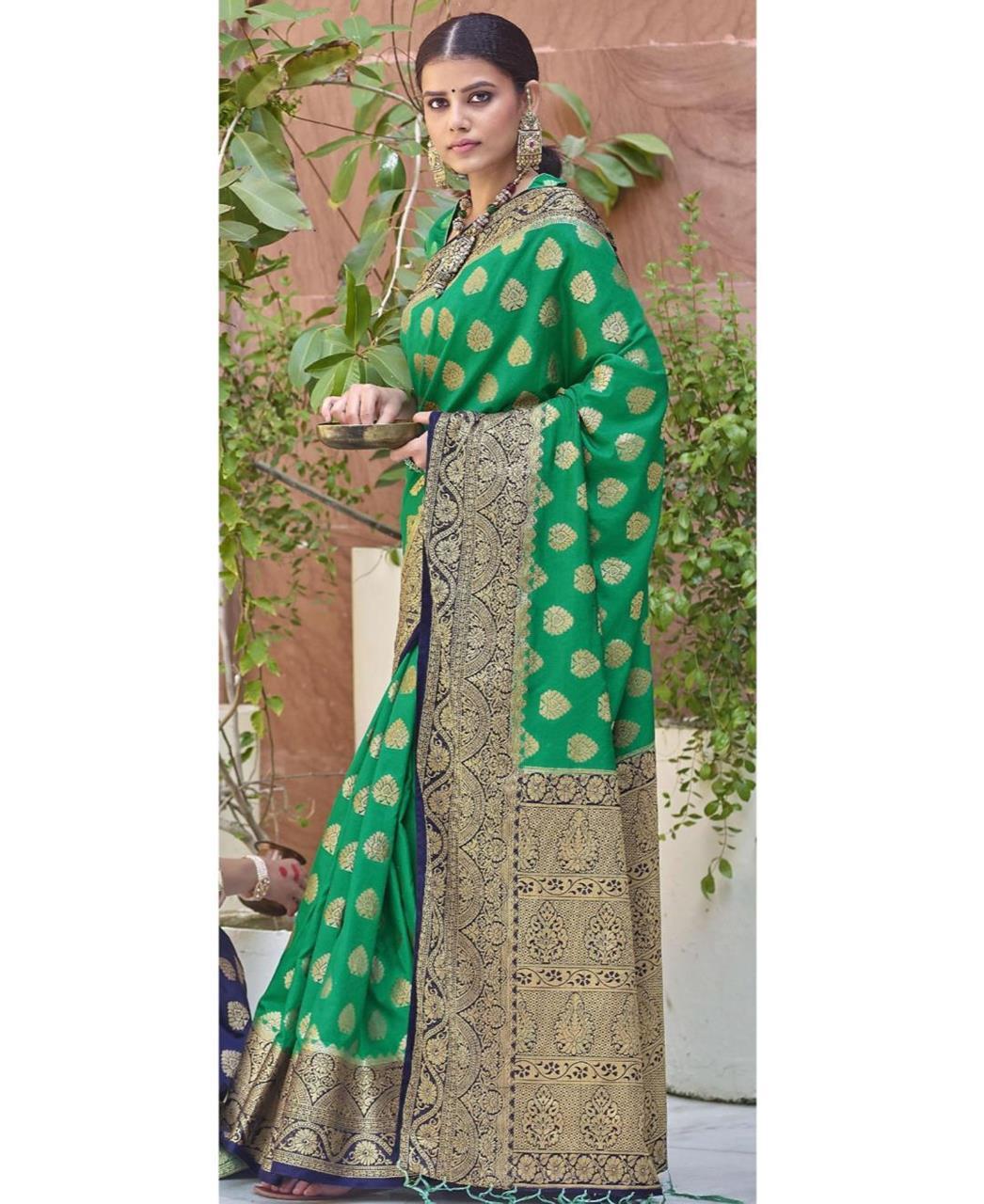 Silk Saree in Green
