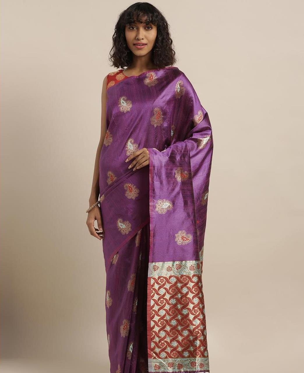 Silk Saree in Fuchsia