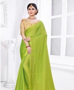 Zari Cotton Saree in Parrot