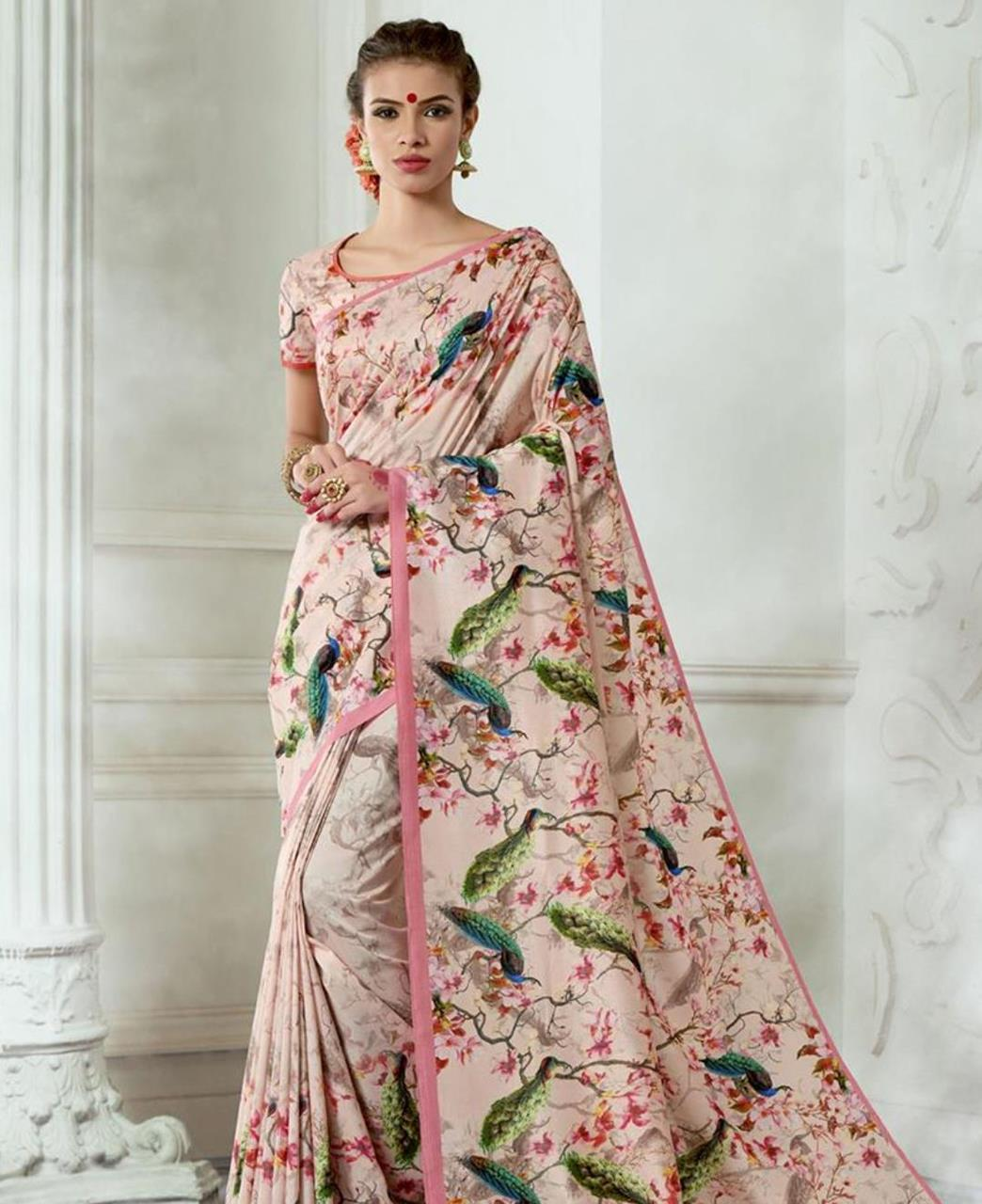 Silk Saree in Peach