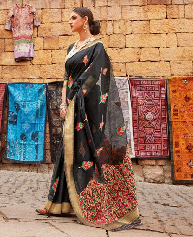 Silk Saree in Black