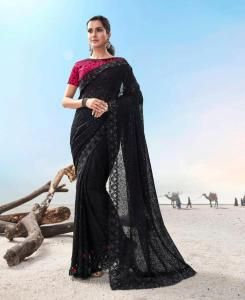 Zari Silk Saree in Black