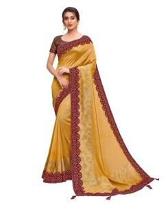 Georgette Saree in Yellow