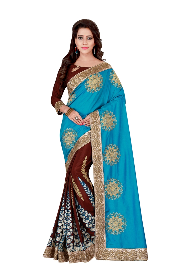 Zari Silk Saree (sari) in Blue