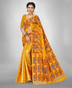 Cotton Saree in Gold