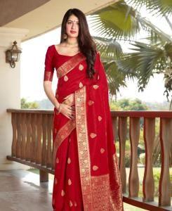 Silk Saree in Red