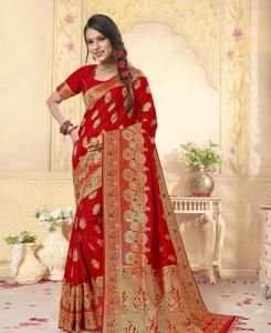 Silk Saree in Red