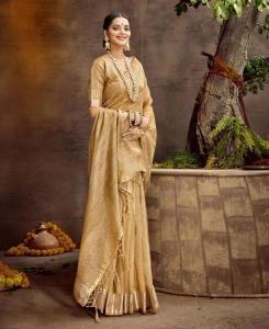 Cotton Saree in Golden