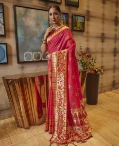 Silk Saree in Pink