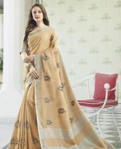 Cotton Saree in Peach