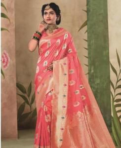 Cotton Saree in Pink