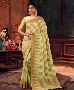 Silk Saree in Lemon