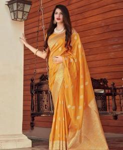 Silk Saree in Musterd