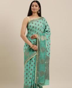 HandWorked Cotton Saree in Blue